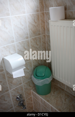 Schalkau, Germany, in a guest bathroom Stock Photo
