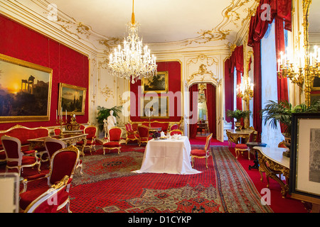 Private Royal Apartments In The Hofburg Palace, Vienna, Austria   Stock  Photo