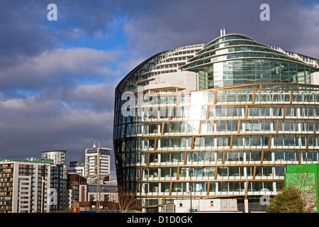 1 Angel Square, the Co-operative Group's new Head Office, first phase of NOMA development, city centre, Manchester, - Stock Photo
