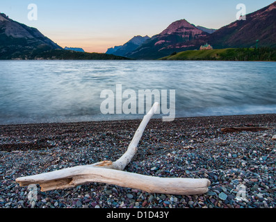 Stick Pointing Towards Prince of Wales Hotel - Stock Photo