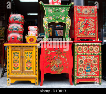 There Ars Some Chinese Characters On The Furnitures Means Happiness, Long