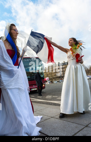 Demonstration pro marriage for all wedding for all in for Wedding dresses in paris france