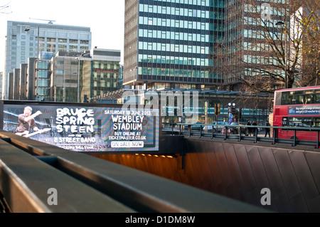 Euston Road underpass, London, UK - Stock Photo