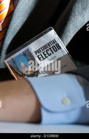 Electors cast ballots as the Texas Electoral College meet at the Capitol in Austin, Texas. - Stock Photo