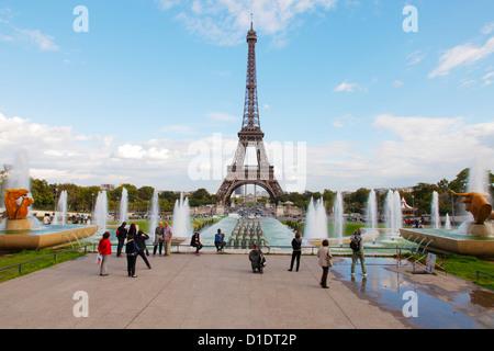 Eiffel Tower Paris - Stock Photo