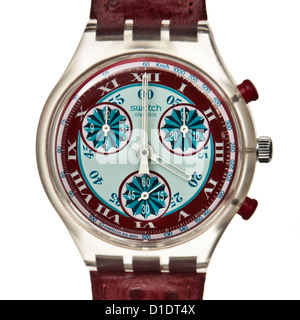 Swatch 'Windmill' chronograph watch (SCK103) from the Fall / Winter 1993 collection - Stock Photo