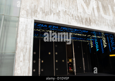 Entrance of the Spanish National Museum of Science and Technology. MUNCYT - Stock Photo