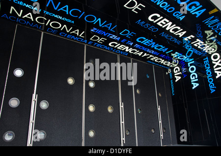 Entrance of the Spanish National Museum of Science and Technology. MUNCYT . - Stock Photo