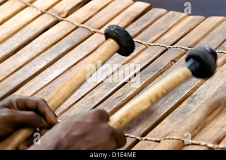 Huge African Embaire wooden xylophone at my son's school ...  |African Wooden Xylophone