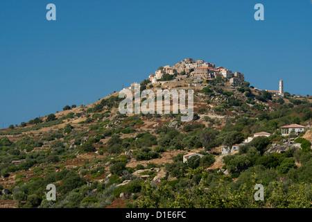 The hilltop village of St. Antonino in the Haute-Balagne region of Corsica, France, Europe