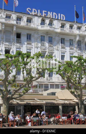 Hotel Splendid, Cannes, Alpes Maritimes, Provence, Cote d'Azur, French Riviera, France, Europe - Stock Photo
