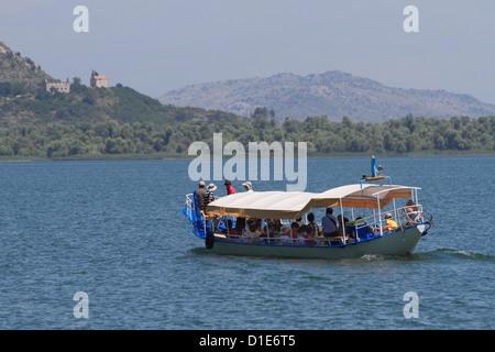 Boat on Skadar Lake, Montenegro, Europe - Stock Photo