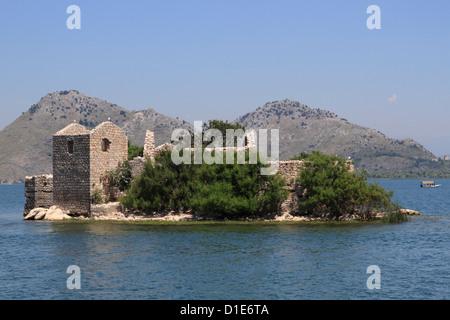 St. Nikola monastery and island, Skadar Lake, Montenegro, Europe - Stock Photo