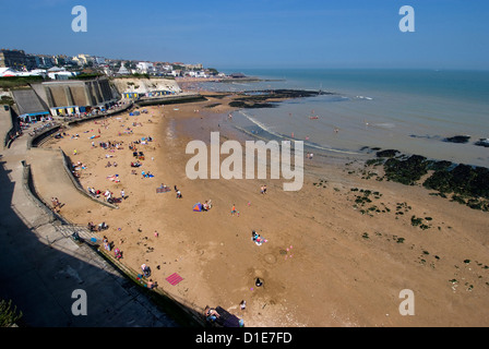 Beach, Louisa Bay, Broadstairs, Kent, England, United Kingdom, Europe - Stock Photo