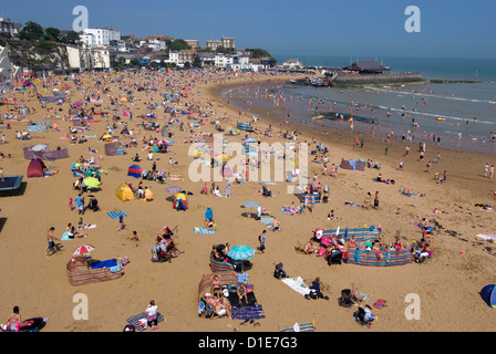 Beach, Viking Bay, Broadstairs, Kent, England, United Kingdom, Europe - Stock Photo