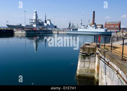 Historic Docks, Portsmouth, Hampshire, England, United Kingdom, Europe - Stock Photo