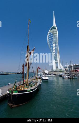 Spinnaker Tower from Gunwharf, Portsmouth, Hampshire, England, United Kingdom, Europe - Stock Photo
