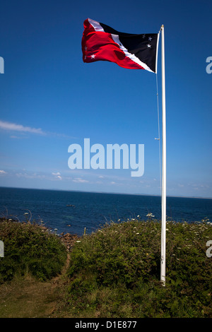 Flag of the Prince of the Saltee Islands, on Great Saltee off the coast of Co. Wexford, Ireland. This - Stock Photo