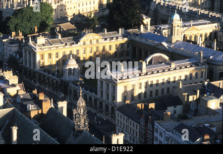 Queen's College Oxford from the air. - Stock Photo