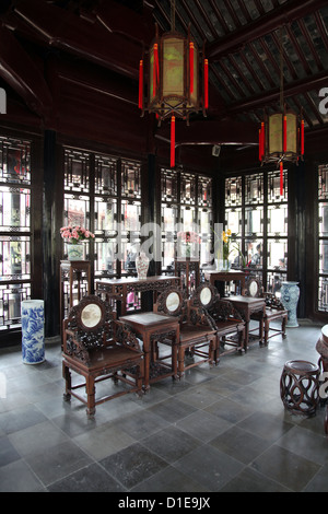 ... It's a photo of the interior of an old ancient Chinese house in china  near shanghai