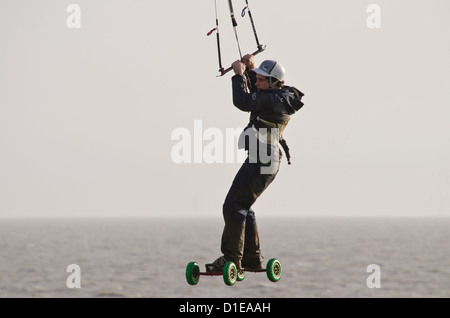 Extreme sport 'land boarding' - Stock Photo