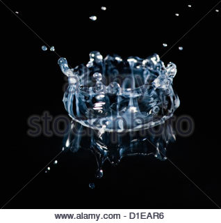 Falling drops of water - Stock Photo