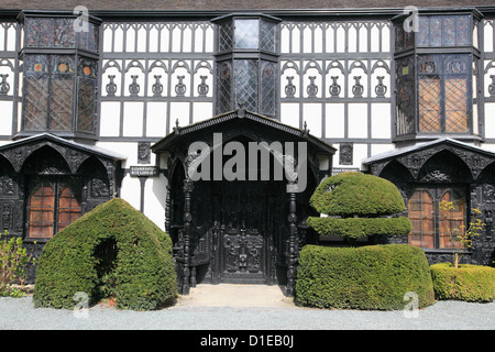 Plas Newydd, Museum, Llangollen, Dee Valley, Denbighshire, North Wales, Wales, United Kingdom, Europe - Stock Photo