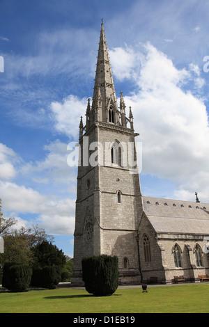 Marble Church (St. Margaret's Church), Bodelwyddan, Vale of Clwyd, Denbighshire, North Wales, Wales, United Kingdom, - Stock Photo