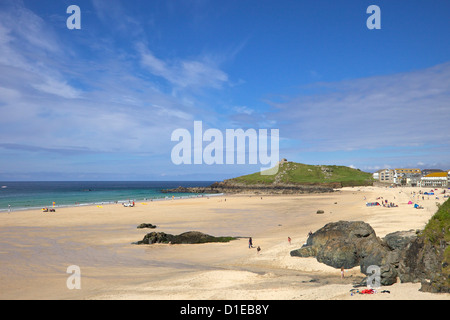 Summer sunshine on Porthmeor beach, St. Ives, Cornwall, England, United Kingdom, Europe - Stock Photo