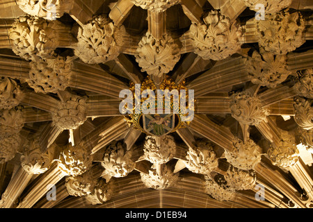 Roof at entrance to the Thistle chapel, St. Giles Cathedral, Old town, Edinburgh, Scotland, United Kingdom, Europe - Stock Photo