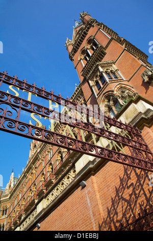Entrance, St.Pancras International Station, London, England, United Kingdom, Europe - Stock Photo