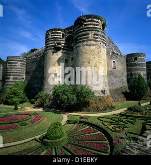 Chateau d'Angers, Angers, Loire Valley, Pays-de-la-Loire, France, Europe - Stock Photo