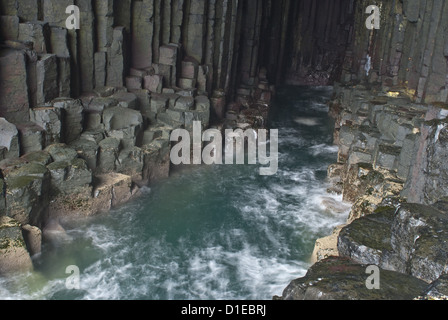 Fingal's Cave, Isle of Staffa, Inner Hebrides, Scotland, United Kingdom, Europe - Stock Photo