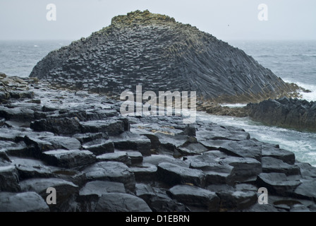 Fingal's Cave, Isle of Staffa, Inner Hebrides, Scotland, United Kingdom, Europe - Stock Photo