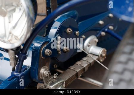Vintage Bugatti racing car at Prescott, Gloucestershire, England, UK. - Stock Photo