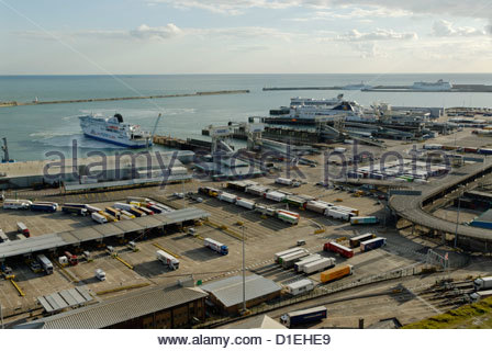 Eastern Docks of Port of Dover - Stock Photo