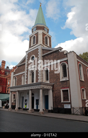 Grosvenor Chapel Anglican Church on  South Audley Street in Mayfair, London, UK. - Stock Photo