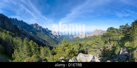 Mountainscape at the Col de Bavella, Corsica, France - Stock Photo