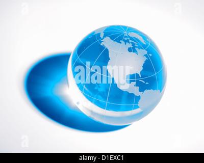 glass globe on white background - Stock Photo