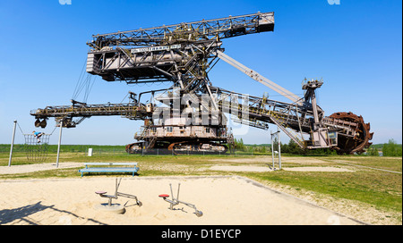 Bucket-wheel excavator in Ferropolis open air museum near Graefenhainichen, Saxony-Anhalt, Germany - Stock Photo