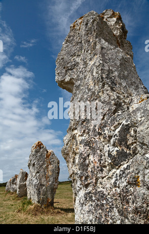 Alignements de Lagatjar, Camaret-sur-Mer, Finistère, Brittany, France - Stock Photo