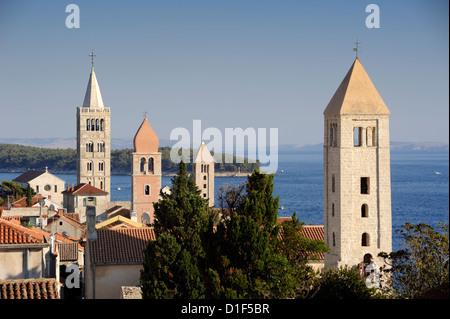 croatia, dalmatia, kvarner islands, rab island, old town - Stock Photo