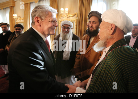 German federal president Joachim Gauck meets representatives of religious organisations in Kabul, Afghanistan, 18 - Stock Photo