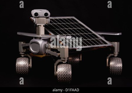 (HANDOUT) An undated handout shows the lunar rover Asimov Jr. R3 with tiltable solar panel, stereo camera head and - Stock Photo
