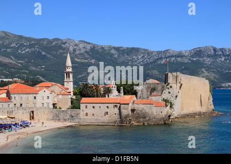 Budva old town, Montenegro, Europe - Stock Photo