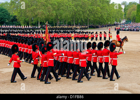 Soldiers at Trooping the Colour 2012, The Queen's Official Birthday Parade, Horse Guards, Whitehall, London, England - Stock Photo