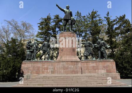 Lajos Kossuth (1802-1894). Hungarian politician. Memorial By Zsigmond Kisfaludi Strobl. Budapest. Hungary. - Stock Photo