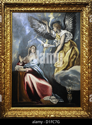El Greco (1541-1614). Cretan painter. The Annunciation, c.1600. Museum of Fine Arts. Budapest. Hungary.