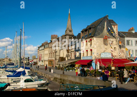 Naval Museum in the ancient Saint Etienne church, on the quay along the Vieux Bassin, Honfleur, Calvados, Normandy, - Stock Photo