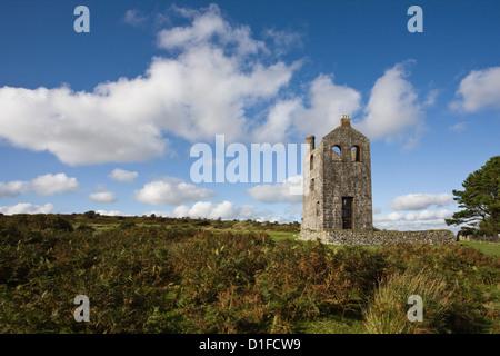 Houseman's Engine House, Minions, Bodmin Moor, Cornwall, England, United Kingdom, Europe - Stock Photo